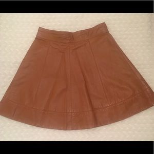 Bebe A-Line Leather Skirt
